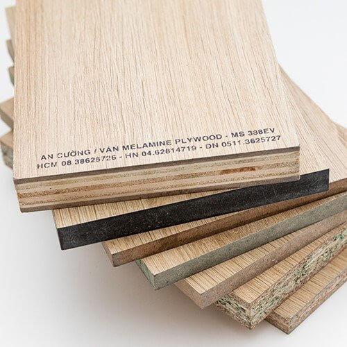các loại gỗ công nghiệp phổ biến trong thi công nội thất