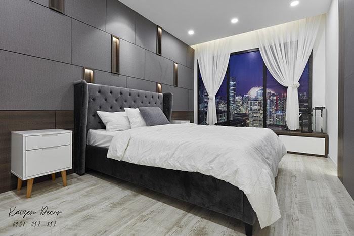 Giường ngủ bọc vải sang trọng GN14