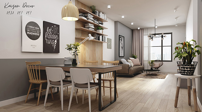 Dự án thiết kế nội thất căn hộ 2PN tại Tân Phú