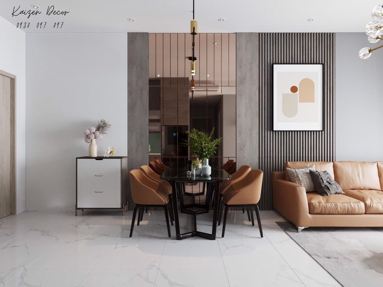 Mẫu bàn ăn 4 ghế dành cho chung cư