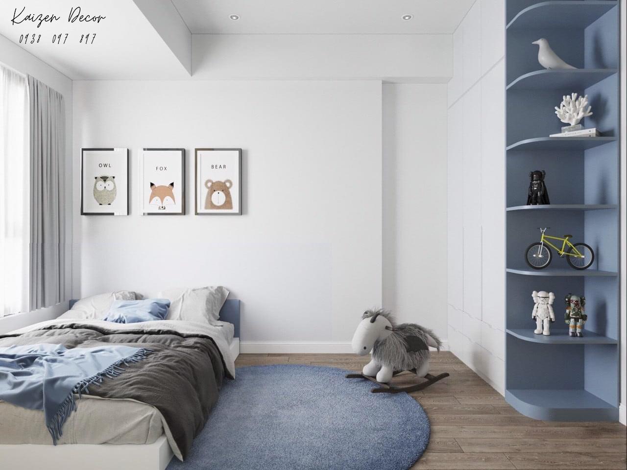 Thiết kế nội thất căn hộ 2PN chung cư Safira
