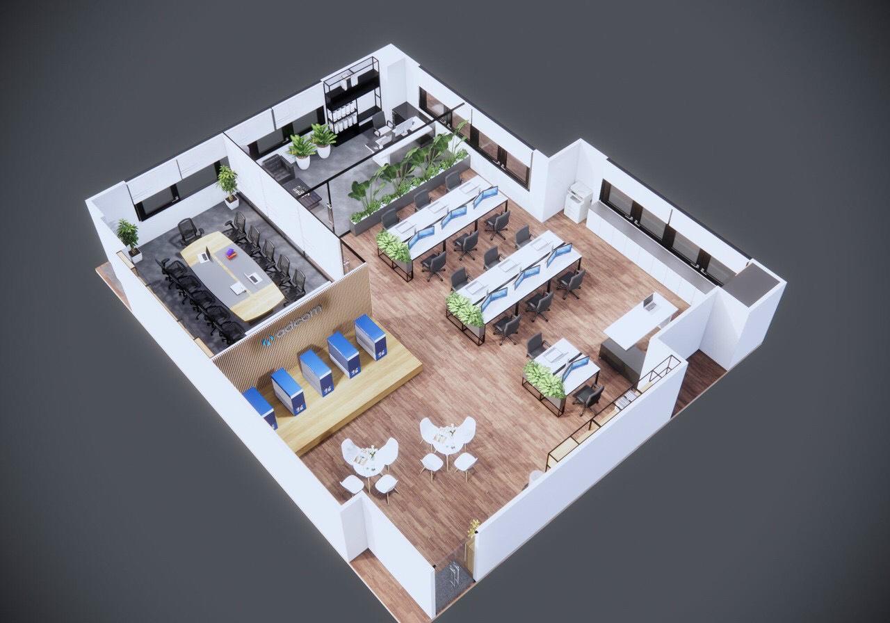 Thiết kế nội thất văn phòng hiện đại tại tphcm