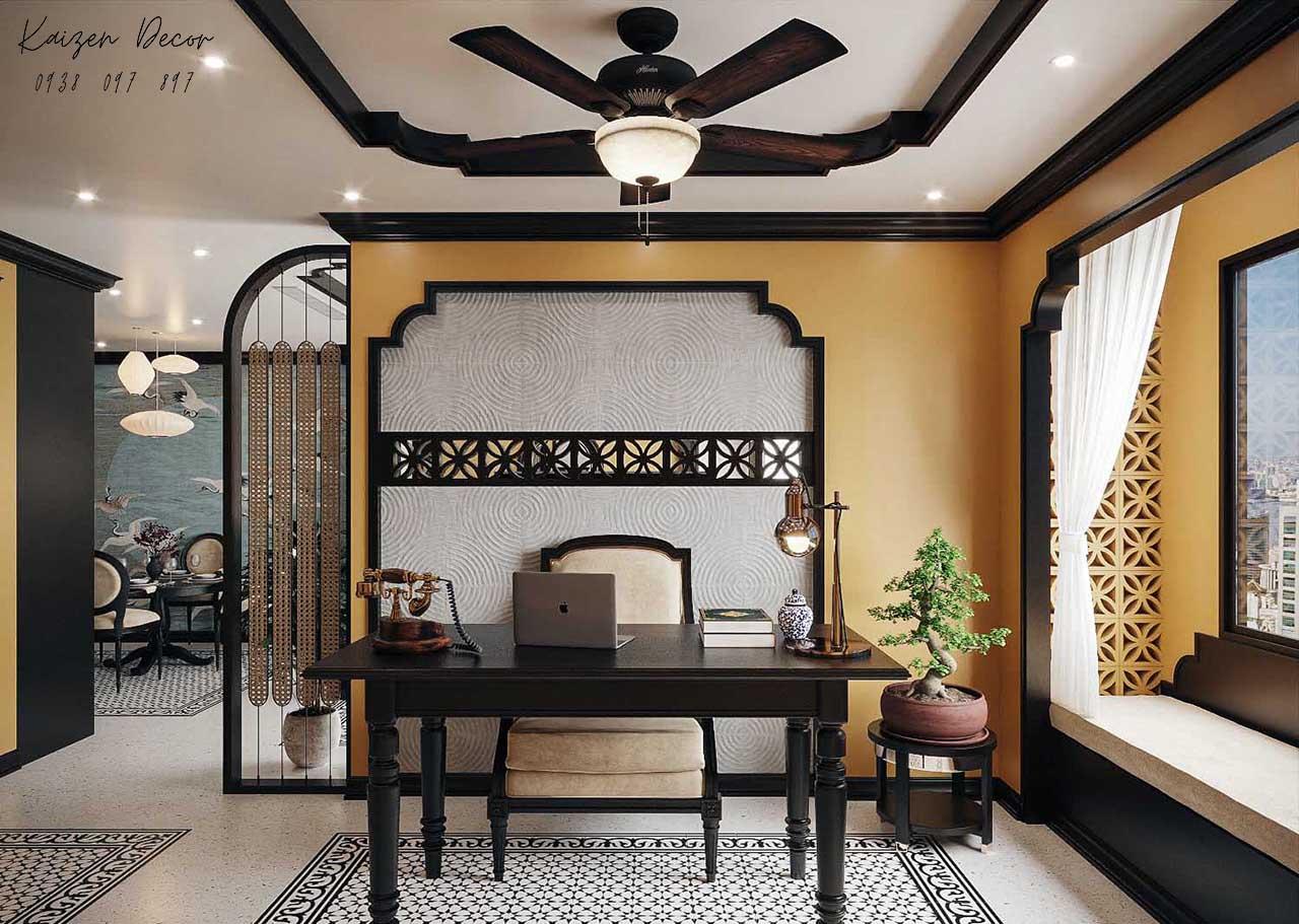 Thiết kế thi công nội thất nhà phố phong cách Indochine tại Tp.HCM giá rẻ